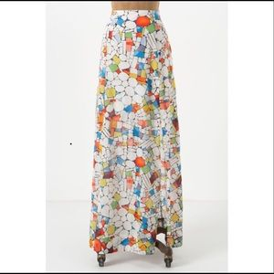 Maeve Leadlight Stained Glass Maxi Skirt